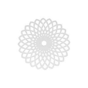 HY2 마도바 메탈플라워 테이블매트 화이트
