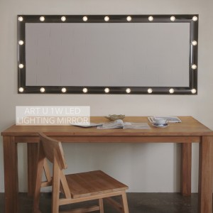 1W LED 초절전 카리스마블랙 전신 조명거울(대형)
