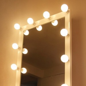 카리스마 화이트 전신 조명거울(소형, 중형)