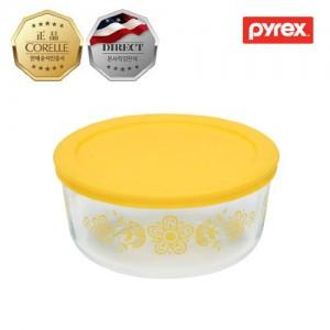 [파이렉스]원형 저장용기 버터플라이 옐로우(1129591)_PYREX