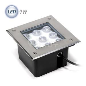 정사각 LED 지중등 9W 파워 114500