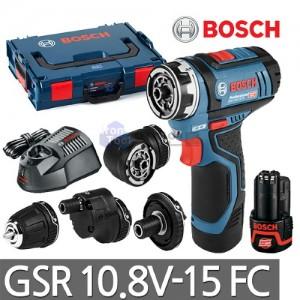 [보쉬] 충전 만능드릴 GSR10.8V-15FC 어댑터4종