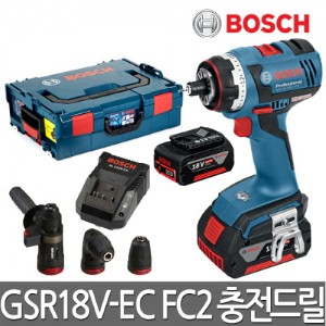 [보쉬]충전드릴 GSR18V-EC FC2 해머척 앵글척 키레스척 포함