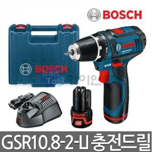 보쉬 충전드릴드라이버 GSR10.8-2-LI 2.0Ah 배터리2개