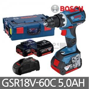[보쉬] 충전드릴 GSR18V-60C 18V 5.0Ah 블루투스기능