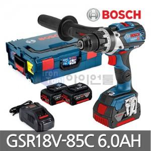 보쉬 충전드릴 GSR18V-85C 6.0Ah 배터리2개