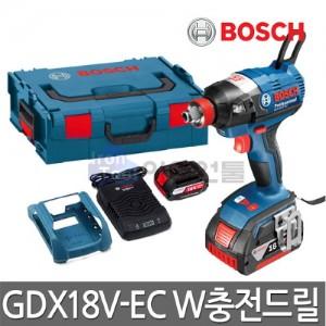 [보쉬] 충전임팩트드릴 GDX18V-EC W 18V 2.0Ah 배터리2개