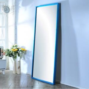 가구누리 원목 대형거울 1700 x 700 레드파인 블루