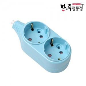 위너스 컬러멀티탭 2구 2M 블루 250v 10A