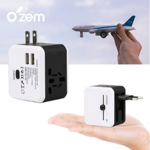 Ozem 2.4A 스퀘어 USB 고속충전 여행용 어댑터