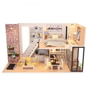 [adico] DIY 미니어처 하우스 - 브라운 스톤