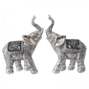플라워 코끼리 2p 장식소품