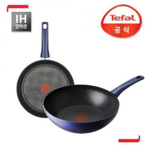 테팔 썩쎄스 인덕션 2종 세트 (프라이팬24cm+볶음팬28cm)