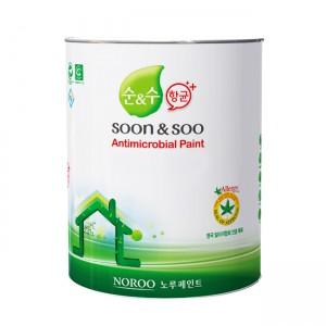 [더페인트샵] 노루페인트 순앤수 친환경 곰팡이방지 항균페인트  4L/18L  (조색색상 가능)