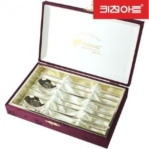 키친아트 선물용 금강산수화 티타늄 수저세트 2P