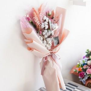 팜파스목화 꽃다발 78cm_P5(조화)