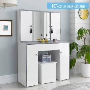 밀라 도어형 화장대(의자별매)/콘솔/입식화장대