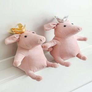 HY2 골드실버왕관 돼지인형 아가 2종 택1