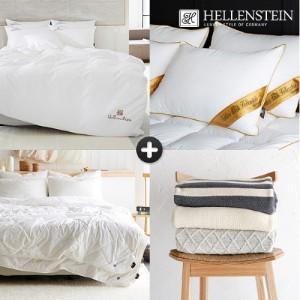 [헬렌스타인] 호텔콜렉션 80수 화이트 양모 사계절 블랭킷 패키지 킹