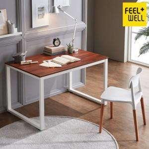 필웰 루피노 스틸 스퀘어 책상 겸 테이블 1200 멀바우  DK9571