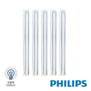 필립스 PL-L 에센셜 형광등 36W 주광색 5개묶음 /865/4P 1CT/50