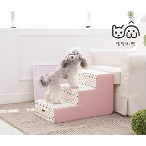 [댕댕이펫]3단 계단(별 핑크)