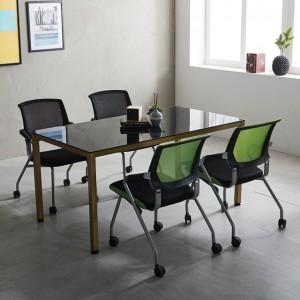 1500 몬드 테이블세트 철제 4인용 사무실 회의용 국산