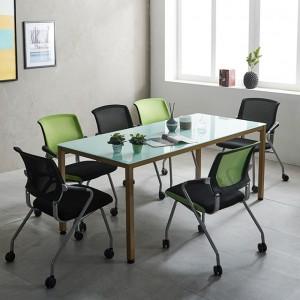 1800 몬드 테이블 철제책상 6인 사무실 회의용 국내산