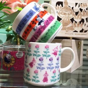 애프터눈티 × 무민 콜라보 나무 박스 머그컵 2컬러택1
