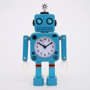 New 감성 로봇 알람 시계 (블루) 알람시계 추카추카넷
