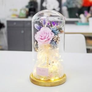 플라워유리돔(LED) 만들기 원데이클래스 [올리브로지]