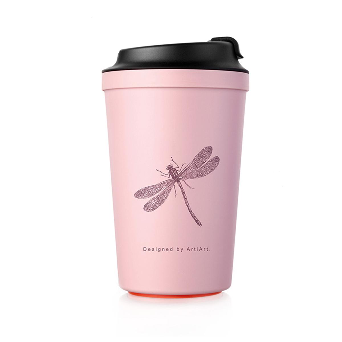 [아티아트]아이디어 카페 석션  텀블러 핑크