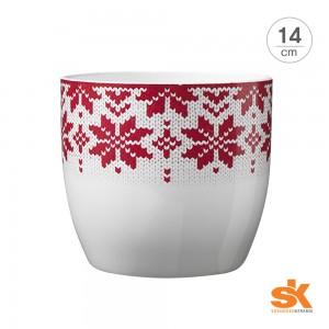 [S.K Since 1893] 독일 명품 도자기화분 바젤 노르딕 크리스마스(14cm)