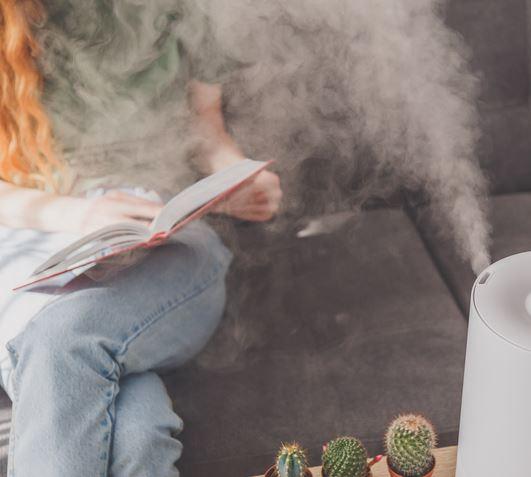 건조한 공기에 수분충전 하는 방법!